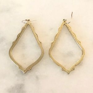 Kendra SCOTT SOPHEE GOLD DROP EARRINGS EUC